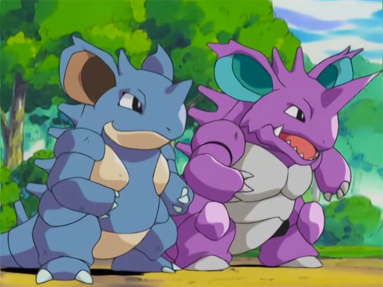 Nidoking / Nidoqueen from Pokemon anime