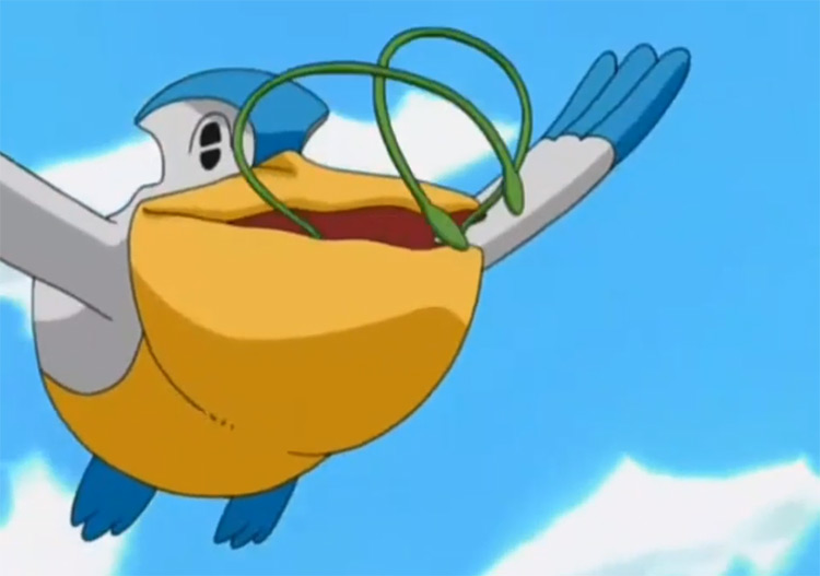 Pelipper Pokemon in the anime
