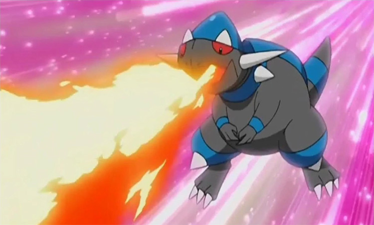Rampardos Pokemon anime screenshot