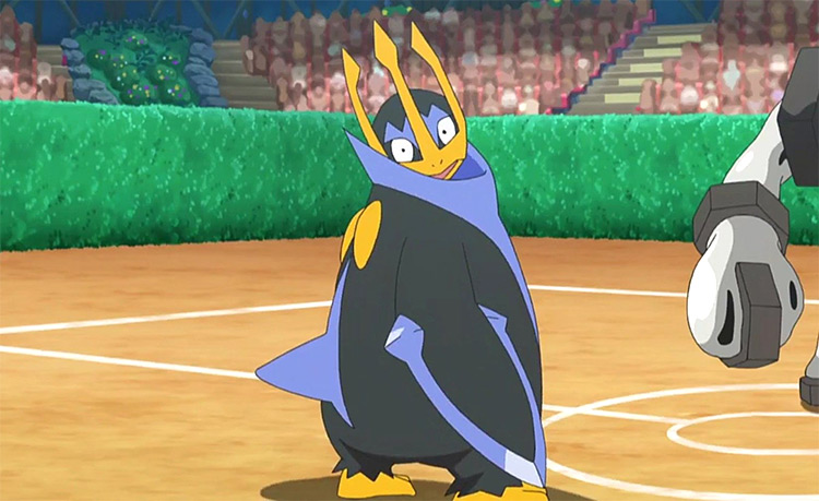 Empoleon from Pokemon anime