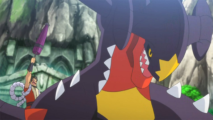Garchomp Pokemon anime screenshot