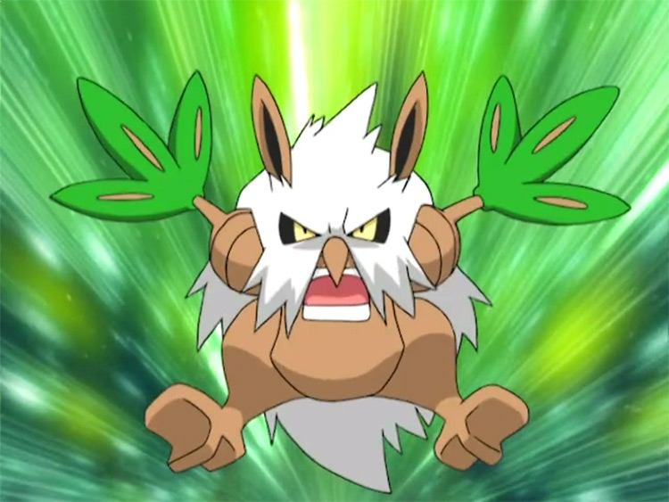 Shiftry Grass-Type Pokemon in the anime