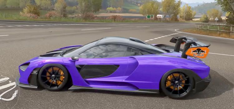 McLaren Senna purple - Forza Horizon 4 Screenshot