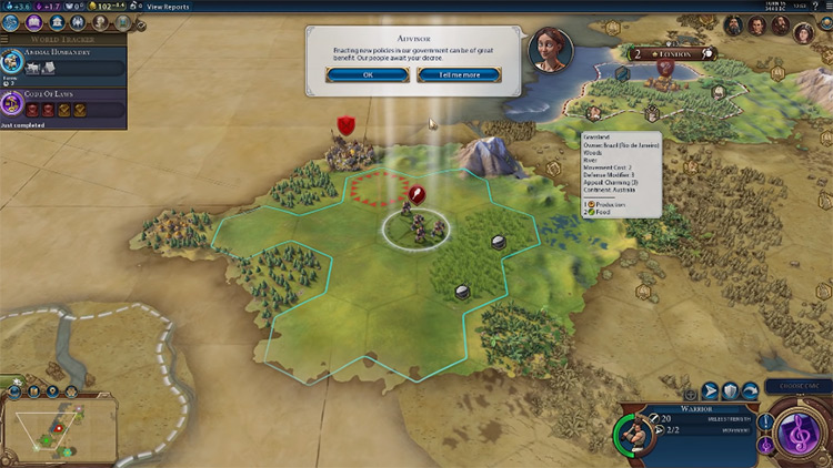 God of the Open Sky in Civilization 6 screenshot