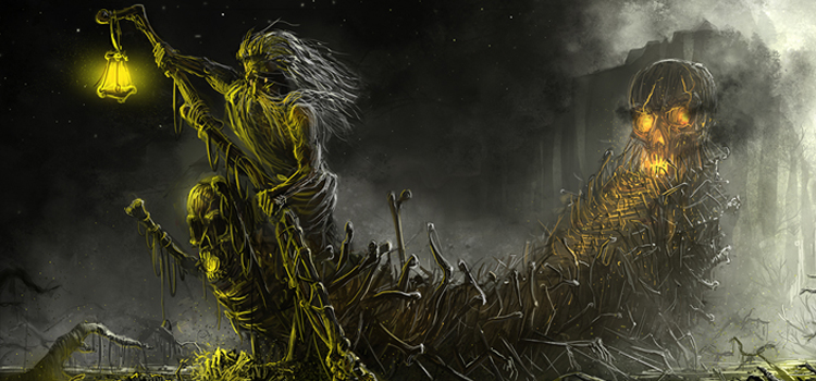 Digital painting darkness by Peter Kmiecik