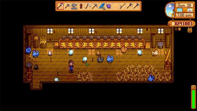 A Very Special Blue Chicken Stardew Valley mod