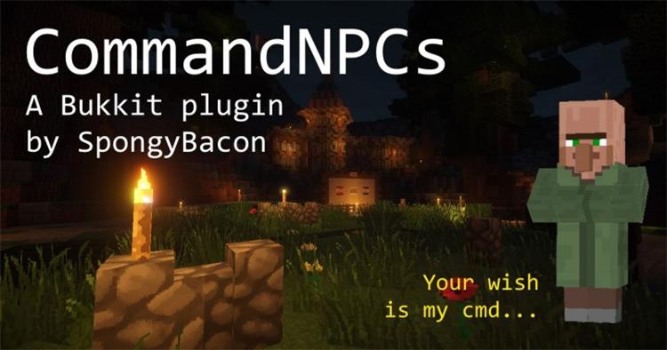 CommandNPCS Mod screenshot for Minecraft