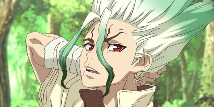 Senku Dr. Stone anime screenshot