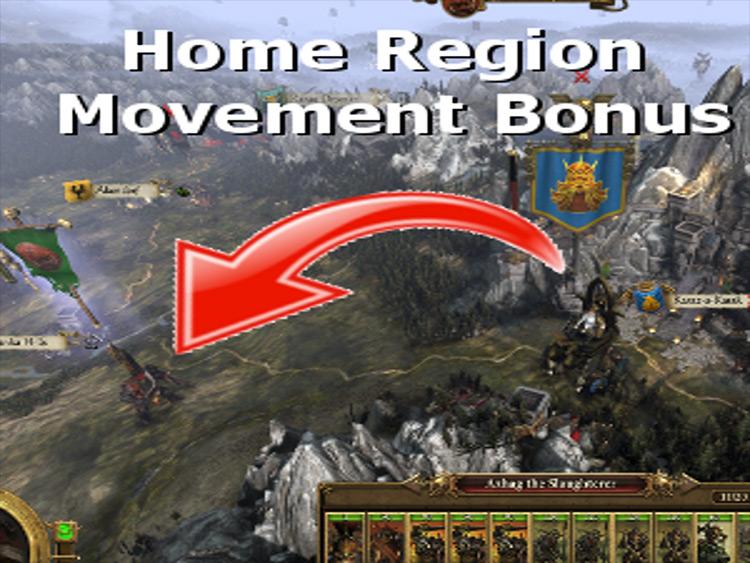 Home Region Movement Bonus mod for Total War: Warhammer