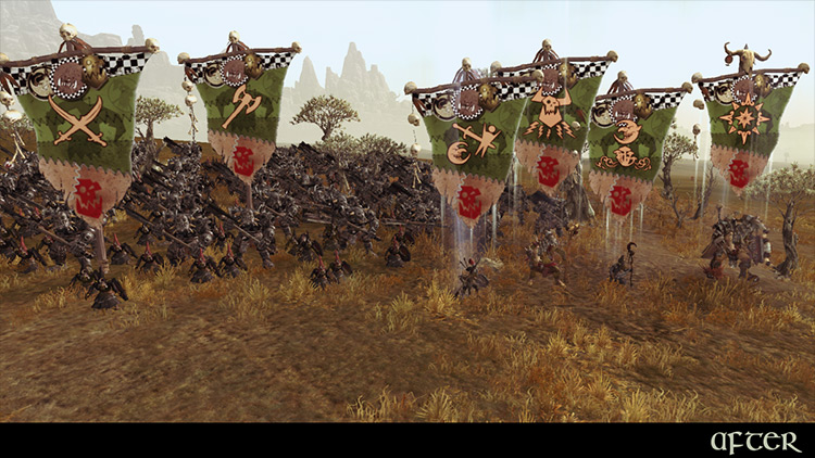 Immersive Battle Banners mod for Total War: Warhammer