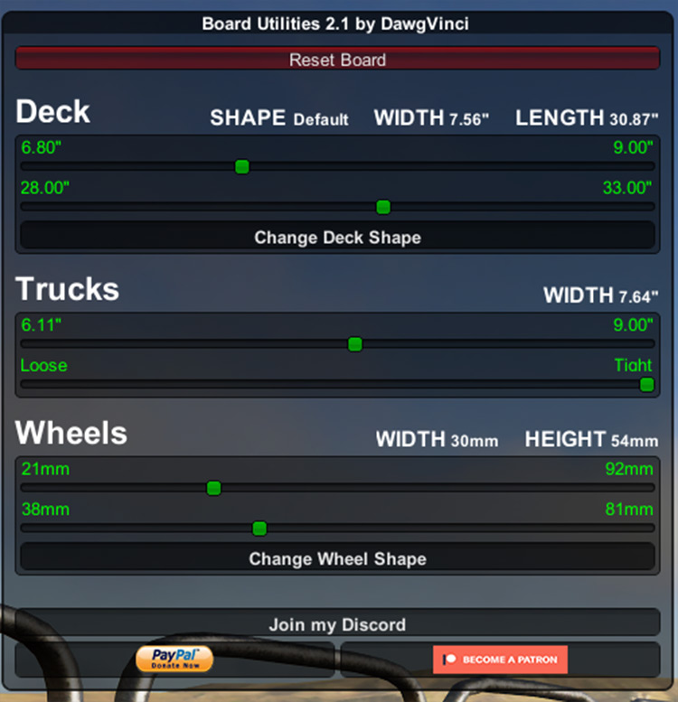 Board Utilities mod for Skater XL