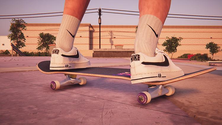 Nike Air Force 1-3 White mod for Skater XL