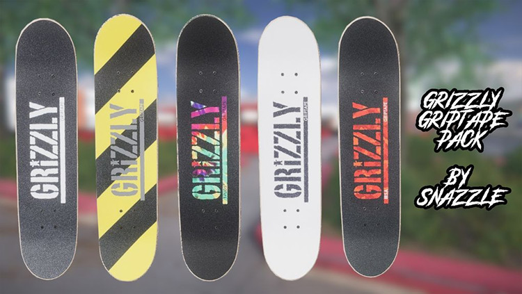 Grizzly Griptape Pack Skater XL mod