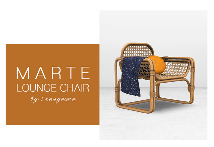 Marte Lounge Chair Sims 4 CC