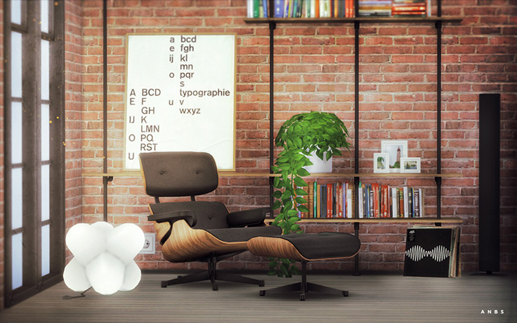 Eames Lounge Chair CC for Sims 4