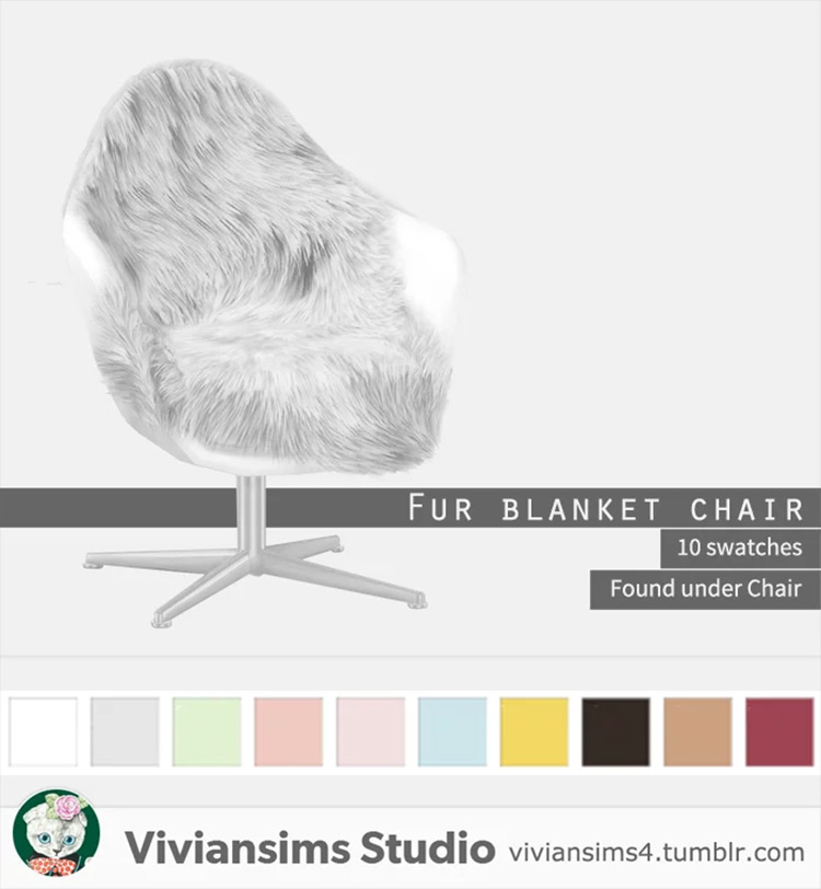 Fur Blanket Chair Sims 4 CC