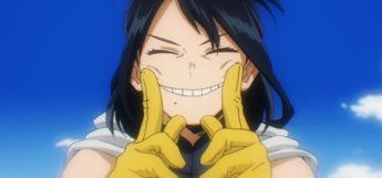 BNHA Screenshot of Momo smiling