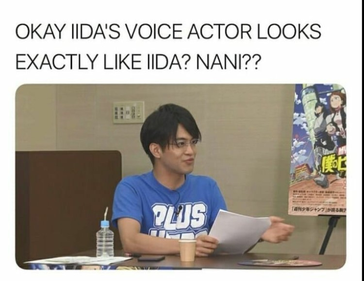 Iidas voice actor looks like Iida? Nani?
