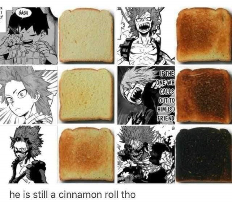 He is still a cinnamon roll meme - stages of manliness