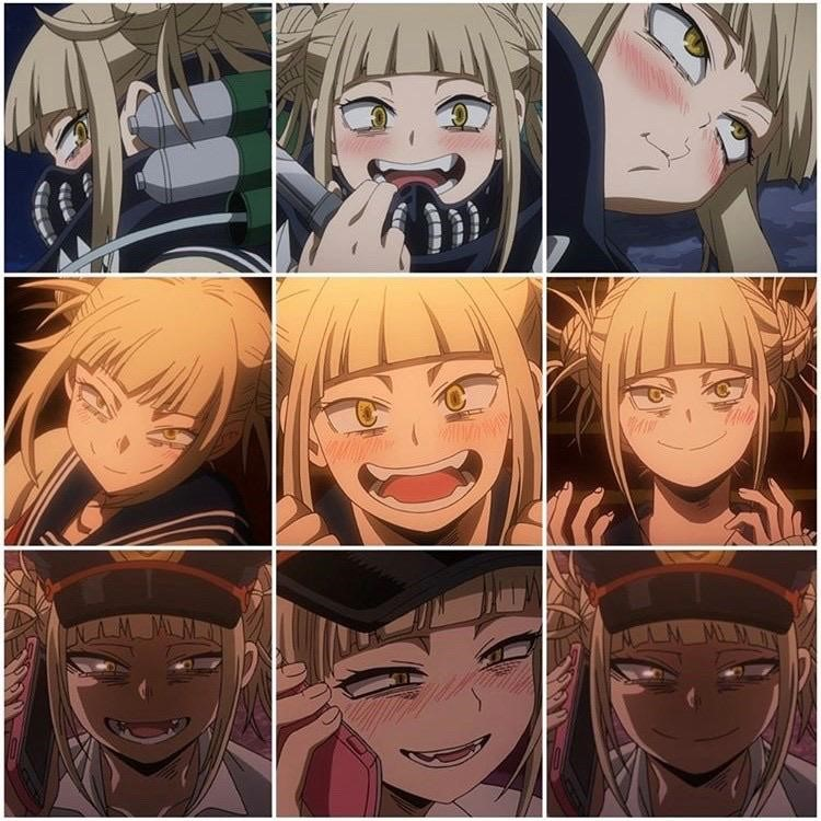 Tier list blonde girl faces BNHA