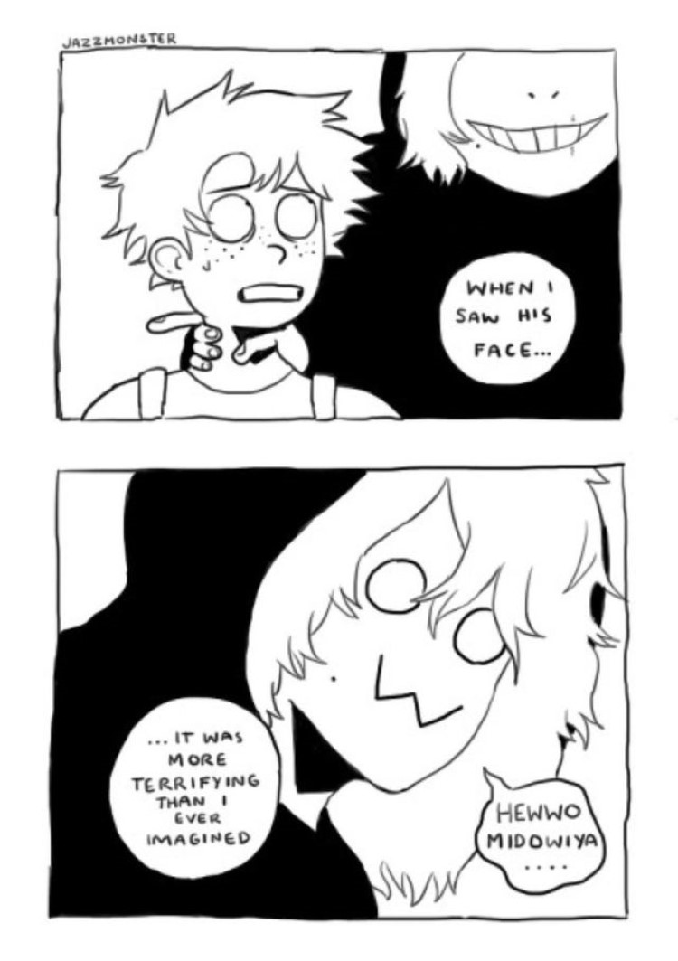 Badly drawn comic meme BNHA