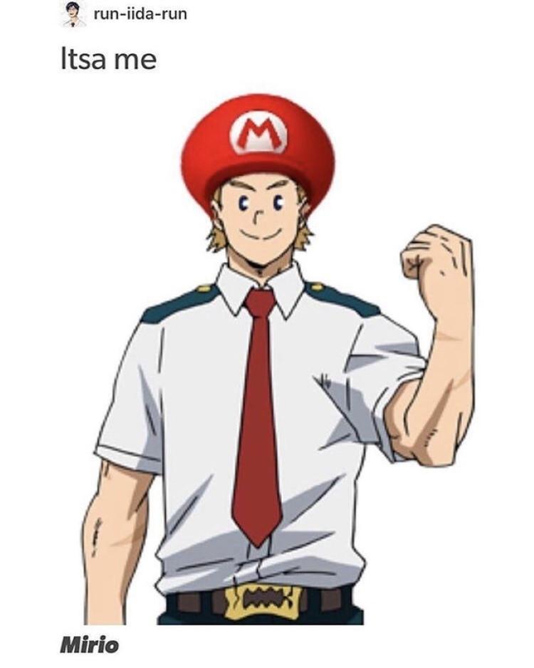 Itsa me, Mirio - BNHA and Mario crossover meme