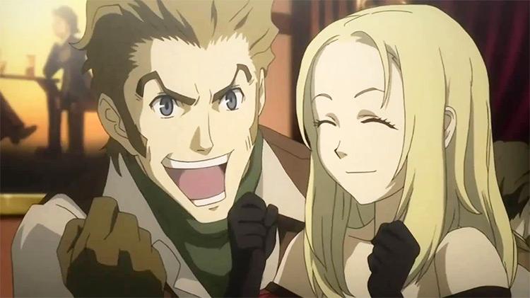 Isaac Dian and Miria Harvent Baccano anime screenshot