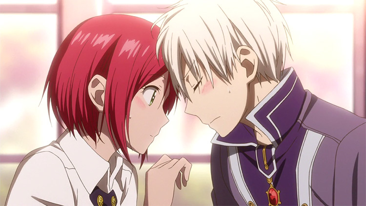 Shirayuki and Zen Wistalia from Snow White with the Red Hair