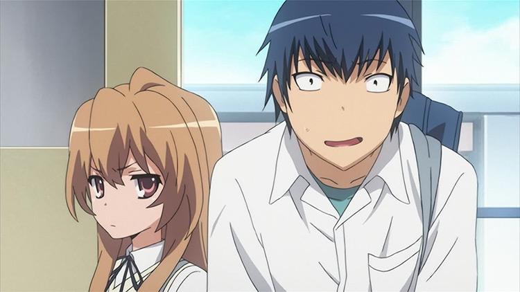 Taiga Aisaka and Ryuuji Takasu from Toradora anime