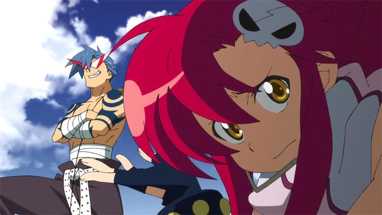 Kamina and Yoko Littner Tengen Toppa Gurren Lagann anime