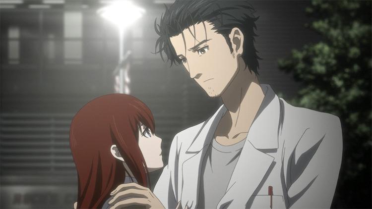 Rintarou Okabe and Kurisu Makise from Steins Gate anime