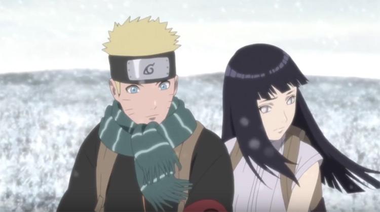 Naruto Uzumaki and Hinata Hyuuga from Naruto: Shippuden anime
