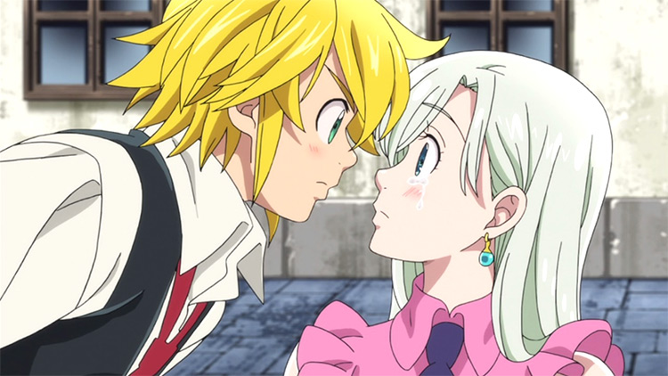 Meliodas and Elizabeth Liones on The Seven Deadly Sins