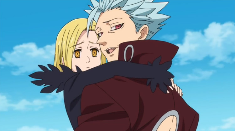 Ban and Elaine from The Seven Deadly Sins