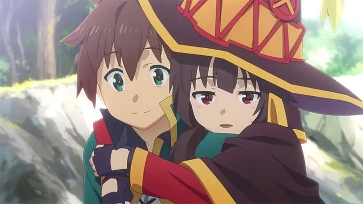 Kazuma and Megumin from KonoSuba anime