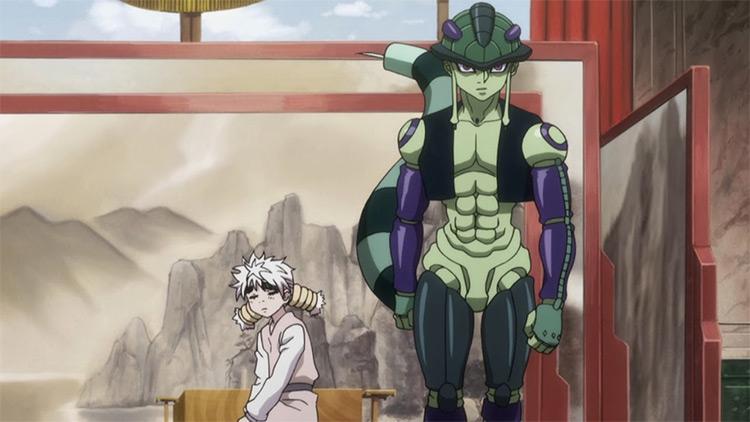 Meruem and Komugi Hunter x Hunter anime screenshot