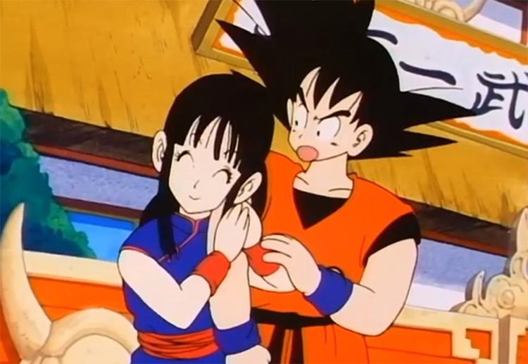Goku and Chi Chi from Dragon Ball anime