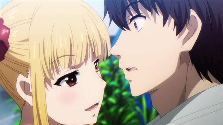 Shuka Karino and Kaname Sudou from Darwin's Game