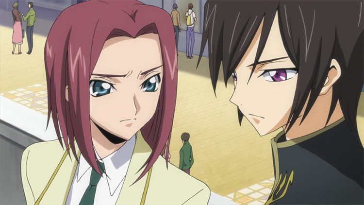 Lelouch Lamperouge and Kallen Stadtfeld from Code Geass anime