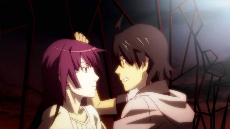 Hitagi Senjougahara and Koyomi Araragi from Bakemonogatari anime