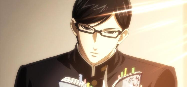 Sakamoto reading - anime screenshot