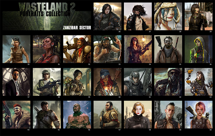 Portraits Collection Wasteland 2 mod