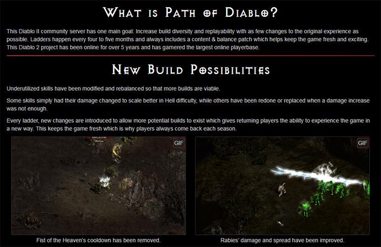 Path of Diablo mod screenshot