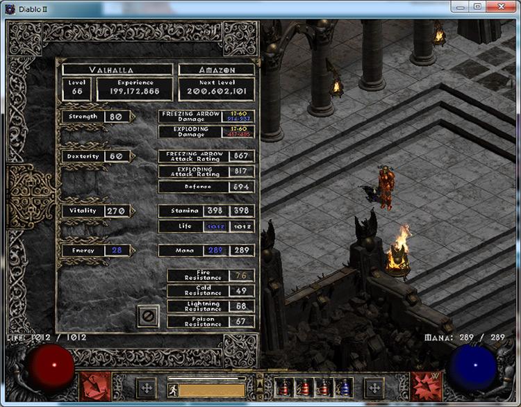 Valhalla Diablo 2 mod screenshot