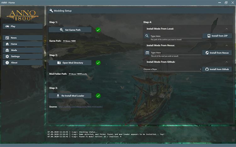 Anno 1800 Mod Manager screenshot