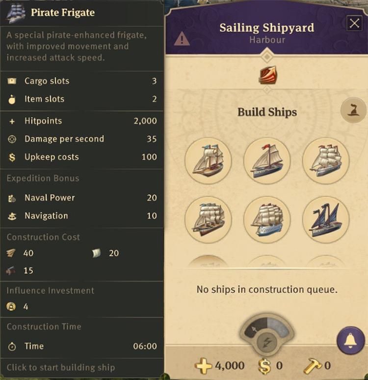 Ship Unlocker Anno 1800 mod screenshot
