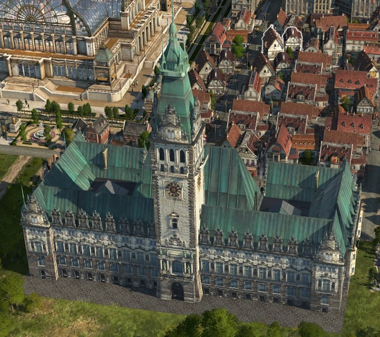 Townhall Monument Anno 1800 mod screenshot
