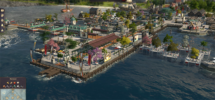 Harbour Ornaments mod for Anno 1800