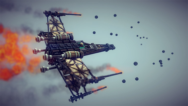 T-65 X-Wing Starfighter mod for Besiege