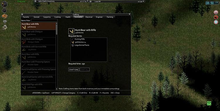 Hunting Mod Project Zomboid screenshot